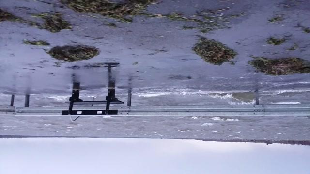 Vinterstorm ved Limfjorden